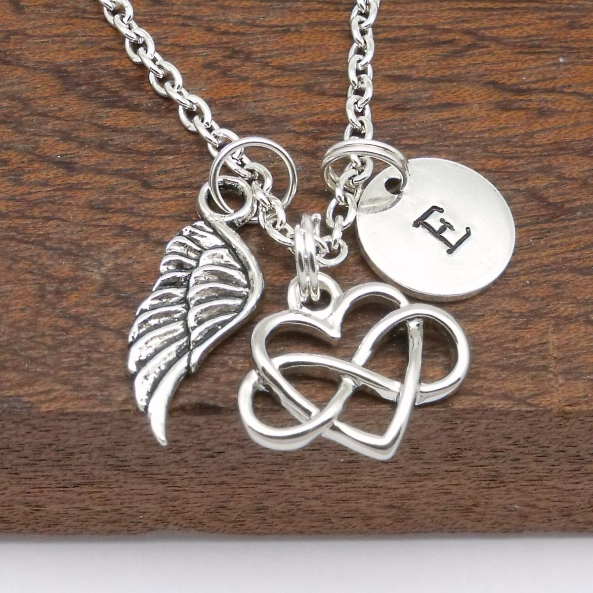 memorial in of jewelry stamped necklace angel pendant memory personalized silver present products mama jenny wing hand proud